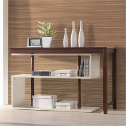 International Caravan Virginia Accent Shelf in Mahogany and White