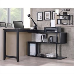 International Caravan Virginia Accent Shelf with Student Desk in Black