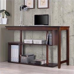 International Caravan Virginia Accent Shelf with Desk in Espresso