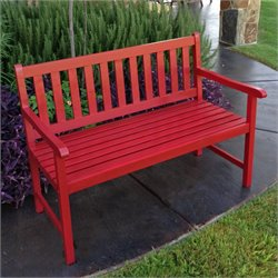 International Caravan Highland Patio Garden Bench in Red