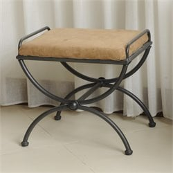 International Caravan Cambridge Vanity Stool in Antique Black