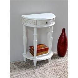 International Caravan Windsor Half Moon Wall Table in Antique White