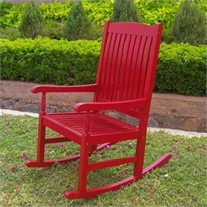 International Caravan Highland Patio Rocking Chair in Red