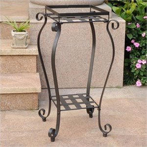 2 Tier Plant Stand in Antique Black