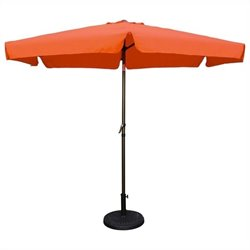 International Caravan St. Kitts Patio Umbrella in Tangerine Dream