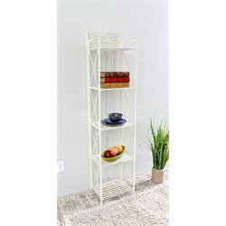 5 Tier Bakers Rack in White