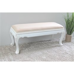 International Caravan Windsor Occasional Bench in Antique White