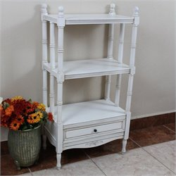 International Caravan Windsor 3 Tier Bookshelf in Antique White