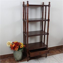 International Caravan Windsor 4 Tier Bookshelf in Walnut