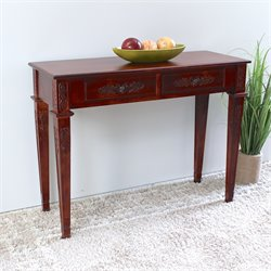 International Caravan Windsor Wall Table in Walnut
