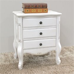 International Caravan Windsor Night Stand in Antique White