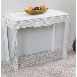 International Caravan Windsor Console Wall Table in Antique White