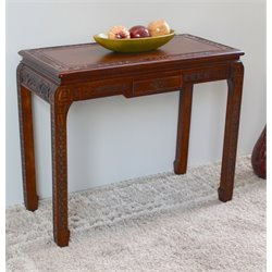 International Caravan Windsor Console Wall Table in Walnut