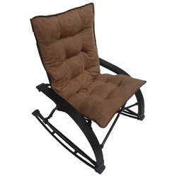 International Caravan Wembley Folding Rocking Chair in Saddle Brown