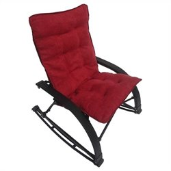 International Caravan Wembley Folding Rocking Chair in Cardinal Red