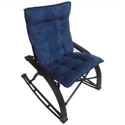 International Caravan Wembley Folding Rocking Chair in Indigo