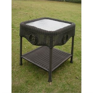Patio End Table in Antique Black