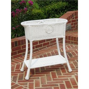 International Caravan Chelsea Oval Resin Potting Bench in White