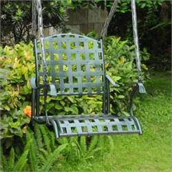 International Caravan Santa Fe Single Seat Patio Swing in Verdigris