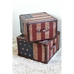 American Trunk in Stars and Stripes (Set of 2)