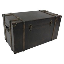 International Caravan Asheville Trunk in Antique Brown (Set of 2)