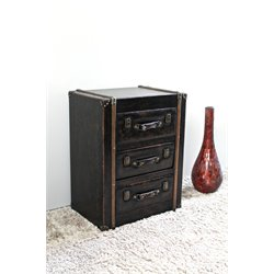 Lamp Table in Antique Brown