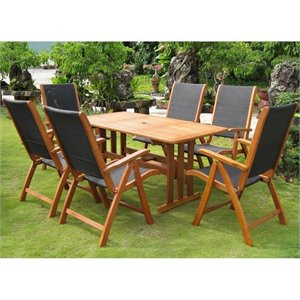 Figueras 7 Pc Patio Dining Set in Natural