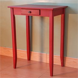 International Caravan Ashbury Square End Table in Antique Red