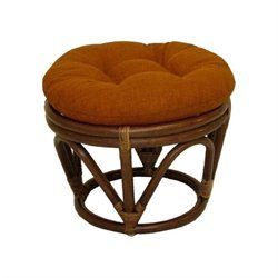 International Caravan Bali Rattan Papasan Footstool Ottoman