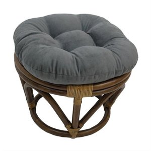 International Caravan Bali Rattan Papasan Cushion Stool