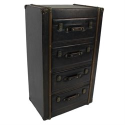 International Caravan 4 Drawer Indoor Chest in Antique Brown