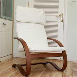 Contemporary Lounge Chair in Ivory