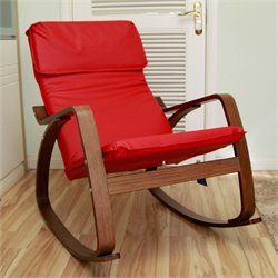 International Caravan Stockholm Rocking Chair in Red