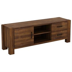 International Caravan Lisbon TV Stand in Brown