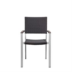 Source Outdoor Fiji Patio Dining Arm Chair in Espresso