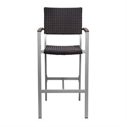Source Outdoor Fiji Patio Bar Stool in Espresso