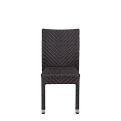 Source Outdoor Miami Patio Dining Side Chair in Espresso