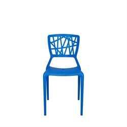 Source Outdoor Phoenix Patio Side Chair in Blue