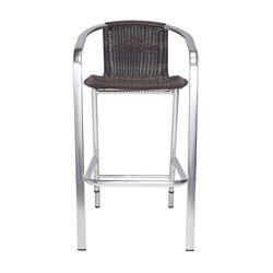 Source Outdoor Bermuda Patio Bar Stool in Espresso