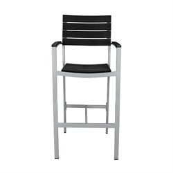 Source Outdoor Vienna Patio Bar Stool in Black