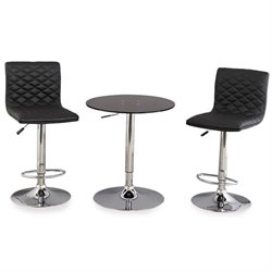 Leick Favorite Finds 3 Piece Pub Table Set in Black