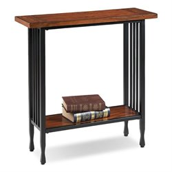 Leick Ironcraft Console Table in Burnished Oak