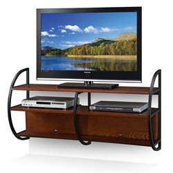 Leick Floating TV Stand in Mission Oak