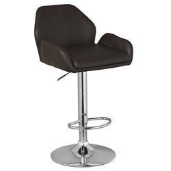 Leick Favorite Finds Faux Leather Swivel Bar Stool in Brown (Set of 2)