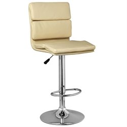 Leick Favorite Finds Faux Leather Swivel Bar Stool in Cream (Set of 2)