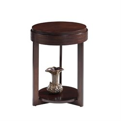 Leick Favorite Finds Round End Table in Chocolate Cherry