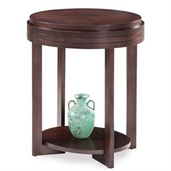 Leick Favorite Finds Oval End Table in Chocolate Cherry