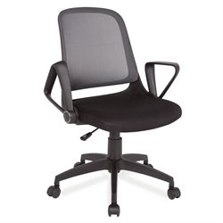Leick Mesh Back Office Chair in Gray