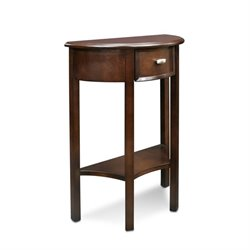 Leick Favorite Finds Demilune Accent Table in Chocolate