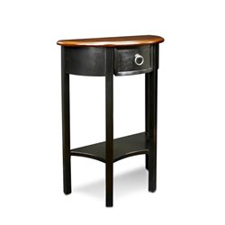 Leick Favorite Finds Demilune Accent Table in Slate